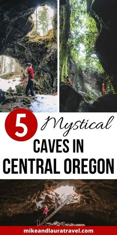5 incredible caves to explore in Central Oregon. Plan the best day trips from Bend, Oregon to these caves; the best things to do in Bend, Oregon. Us Travel Destinations, Places To Travel, Oregon Vacation, Oregon Road Trip, Central Oregon, Portland Oregon, Travel Portland, Oregon Caves, Oregon Coast
