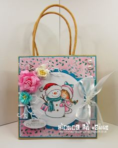 Wild Rose Studio - Girl & Snowman