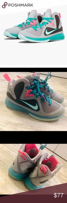 "3c3aba224f2 Rare South Beach Lebron 9 Shoes Authentic Nike Lebron 9 ""South Beach""  design sneakers"