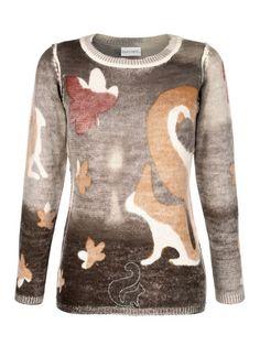 Sind Sie auch so vernarrt in Eichhörnchen wie wir? Dann haben wir hier einen wunderbar weichen Strickpullover für Sie.  #Herbst #Mode