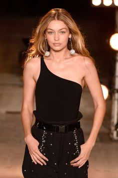 Gigi Hadid walks the runway at the Isabel Marant fashion show