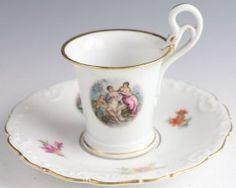 Teekessel -  Meissen Porcelain, Tea cup & saucer