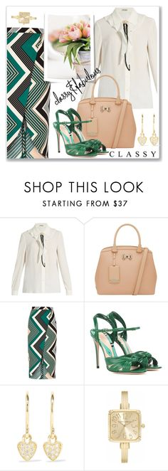 """""""Classy"""" by hani-bgd ❤ liked on Polyvore featuring Miu Miu, Ted Baker, River Island, Gucci, Grace, Jennifer Meyer Jewelry, Laura Ashley and classy"""