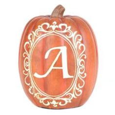 Monogram A Pumpkin