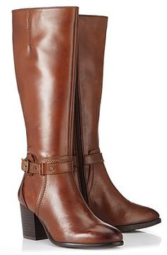 Womens russet ravel knee-high boots from Lipsy - £140 at ClothingByColour.com