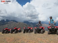 Con la impresionantes vista de los Nevados con la Cuatrimoto a Moray http://condetravel.travel/ #Cuatrimoto