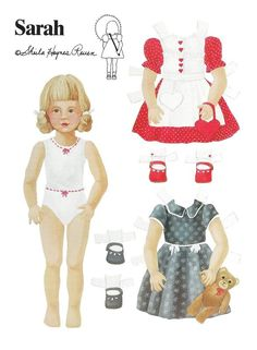 Sarah* The International Paper Doll Society by Arielle Gabriel for all paper doll and paper toy lovers. Mattel, DIsney, Betsy McCall, etc. Join me at ArtrA, #QuanYin5 Linked In QuanYin5 YouTube QuanYin5!