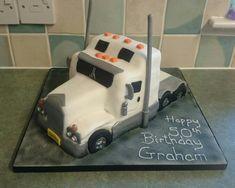 Kenworth truck vanilla sponge cake