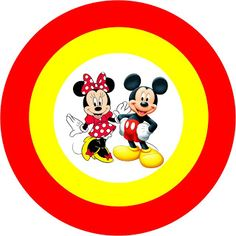 Mickey e Minnie - Kit Completo com molduras para convites, rótulos para guloseimas, lembrancinhas e imagens! - Fazendo a Minha Festa