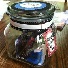 Fathers day gift...memory in a jar.