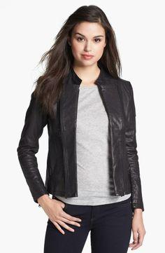 June Double Zip Leather Moto Jacket  Online Only
