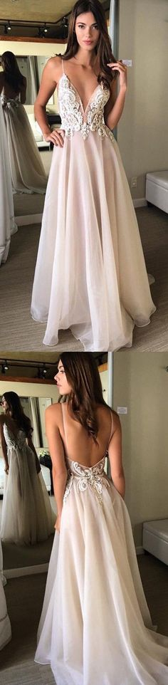 New Arrival Prom Dress,Open Back Ball gowns White Prom Dresses P0071 #promdress #promdresses #promgown #promgowns #long #laceprom #modestpromdress #newpromdress #2018fashions #newstyles #whiteprom #laceprom