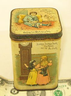Carr's nursery rhyme biscuit tin