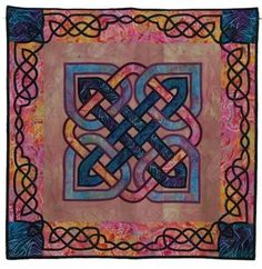 Quilted Wall Hanging:  Celtic Knotwork Free Shipping - $450.00 - Handmade Home Decor, Crafts and Unique Gifts by Quilts by Elsie