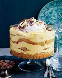 Layers of silky pumpkin mousse and coffee-dipped ladyfingers create a spectacular tiramisu thats a terrific alternative to pumpkin pie. Slideshow: More Thanksgiving Pumpkin Recipes pumpkin recipes Fall Dessert Recipes, Thanksgiving Desserts, Just Desserts, Holiday Recipes, Fall Desserts, Healthy Fruit Desserts, Healthy Fruits, Holiday Treats, Fall Recipes