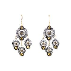 ab142f01b Miguel Ases PYRITE, SWAROVSKI, MIYUKI, 14K GOLD FILL Chandelier Earrings, Drop  Earrings