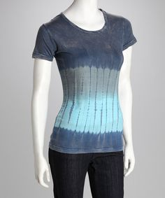 Look at this Blue Tie-Dye Short-Sleeve Tee on #zulily today!