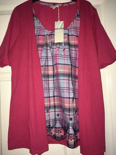Knot TOP SIZE 24 Red COTTON BNWT M/&S COLLECTION LADIES Short SLEEVED