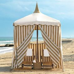 beach decor stripe cabana