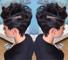 """""""The side view of this cut is so dope via @pekelariley of @salonpk #pixiecut #sidepart #dopestyle #JacksonvilleStylist #shorthair #stunner #TCLHS…"""""""