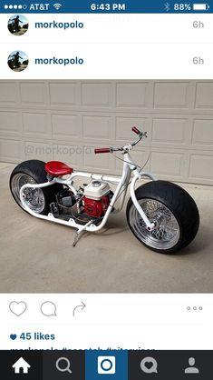 This is awesome Custom Trikes, Custom Motorcycles, Cars And Motorcycles, Scooter Bike, Trike Motorcycle, Pocket Bike, Mini Moto, Scooter Custom, Custom Mini Bike