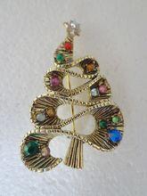 "Rare HOLLYCRAFT ""Ribbon"" Christmas Tree Pin ~Book Piece~"