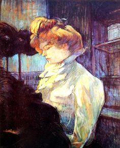 """Toulouse-Lautrec, La modista (1900), Musée Toulouse-Lautrec, Albi. cm. 61 x 49,5. Grazie alla pagina Facebook """"I 1000 quadri più belli di tutti i tempi""""."""