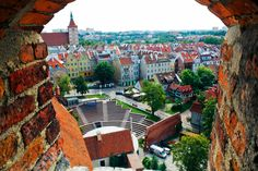 Olsztyn, Poland    www.studyfun.pl Germany Poland, Old Street, World Cities, Famous Places, Krakow, National Geographic, Places To Go, Life Hacks, Dolores Park