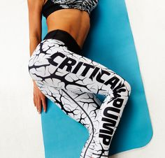 b1834c595e4c0 Cracked White fitness leggings by Critical Pump Workout Leggings, Yoga  Leggings, Clothing Company,