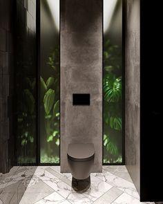 Gäste-WC Design A Stroke. Modern House Design, Modern Interior Design, Luxury Interior, Interior Architecture, Contemporary Interior, Modern Toilet Design, Interior Ideas, Interior Inspiration, Toilette Design