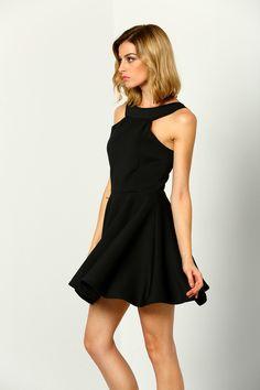 Black Halter Backless Flare Dress                                                                                                                                                                                 More