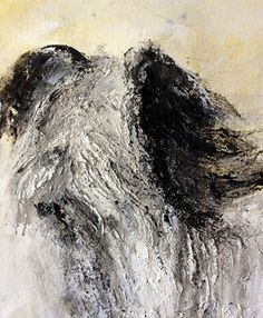 """Mixed Media Artists International: Abstract Dog Portrait """"Skye Terrier #2"""" by Contemporary Artist Lee Canalizo"""