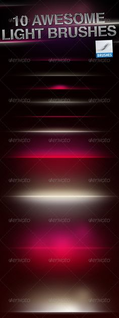 HQ Light Flares Brushes  #GraphicRiver         HQ Light Brush Pack including 10 awesome Photoshop brushes. Perfect to style up your artwork!   Provided in .abr format.     Created: 16February12 Add-onFilesIncluded: PhotoshopABR MinimumAdobeCSVersion: CS Tags: abr #brush #brushes #flares #glossiness #glossy #lens #light #lightning #style