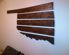 5 Piece Wooden Oklahoma Wall Hanging
