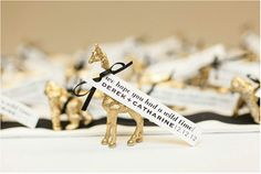 Gold Animal Place Card or Escort Card holders (set of via Etsy Wedding Places, Wedding Place Cards, Wedding Table, Wedding Ideas, Card Wedding, Wedding Bells, Wedding Stuff, Wedding Planning, Wedding Inspiration