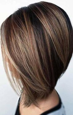Bob's hairstyle has some very popular types, stacked bob haircut is one of them. Short haircuts for women may be a big dilemma, especially for owners of long and thick hair. Stacked bob haircut is… Inverted Bob Hairstyles, Bob Hairstyles For Fine Hair, Hairstyles 2018, Layered Haircuts, Celebrity Hairstyles, Medium Stacked Haircuts, Medium Inverted Bob, Medium Choppy Hair, Wedding Hairstyles