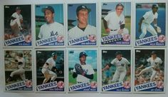 NY YANKEES Baseball Cards, Topps 1985 Team Lot of 10 Cards ( 30 Years Old) #NewYorkYankees