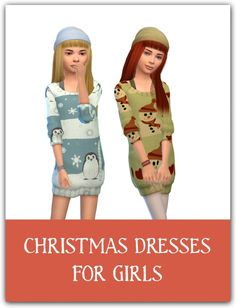 Christmas dresses for girls at Maimouth Sims4 via Sims 4 Updates