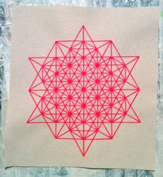 64 Star Tetrahedron Grid Sacred Geometry PATCH by Upcycle27, $7.00
