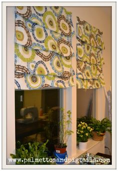Easy Roman Shades--not sure if I completely like this for over the sink, but I need something that can go over big blinds.