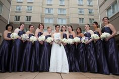Bridesmaids on the garden patio
