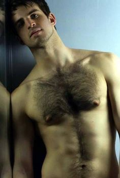 Young men chest nude