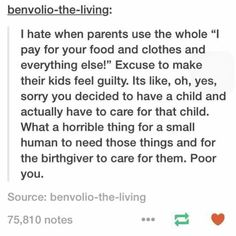 Don't take the responsibility of being parent if you can't handle it