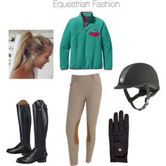 Chilly Equestrian- Pink and Teal - Polyvore