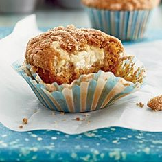 Pumpkin-Cream Cheese Streusel Muffins | MyRecipes.com