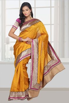 Jailakshmi Sarees is one of the leading manufacturers and exporters of ghicha silk jacquarred with attached uppada border pallu that are available in a variety of attractive designs and are reasonably priced.
