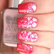 Pink Water Spotted Nails: Try Something New: FingerFood's Theme Buffet | Kerruticles