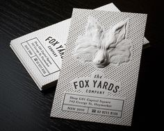 These are gorgeous, beautifully designed 3D Embossed Business Cards by Jukebox via www.mr-cup.com