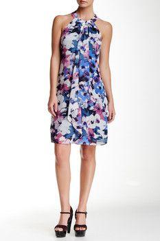 SL Fashions Printed Halter Dress