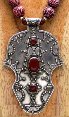 Huge Vintage Kazakh Tribal Amulet and Etched by SilkRoadJewelry